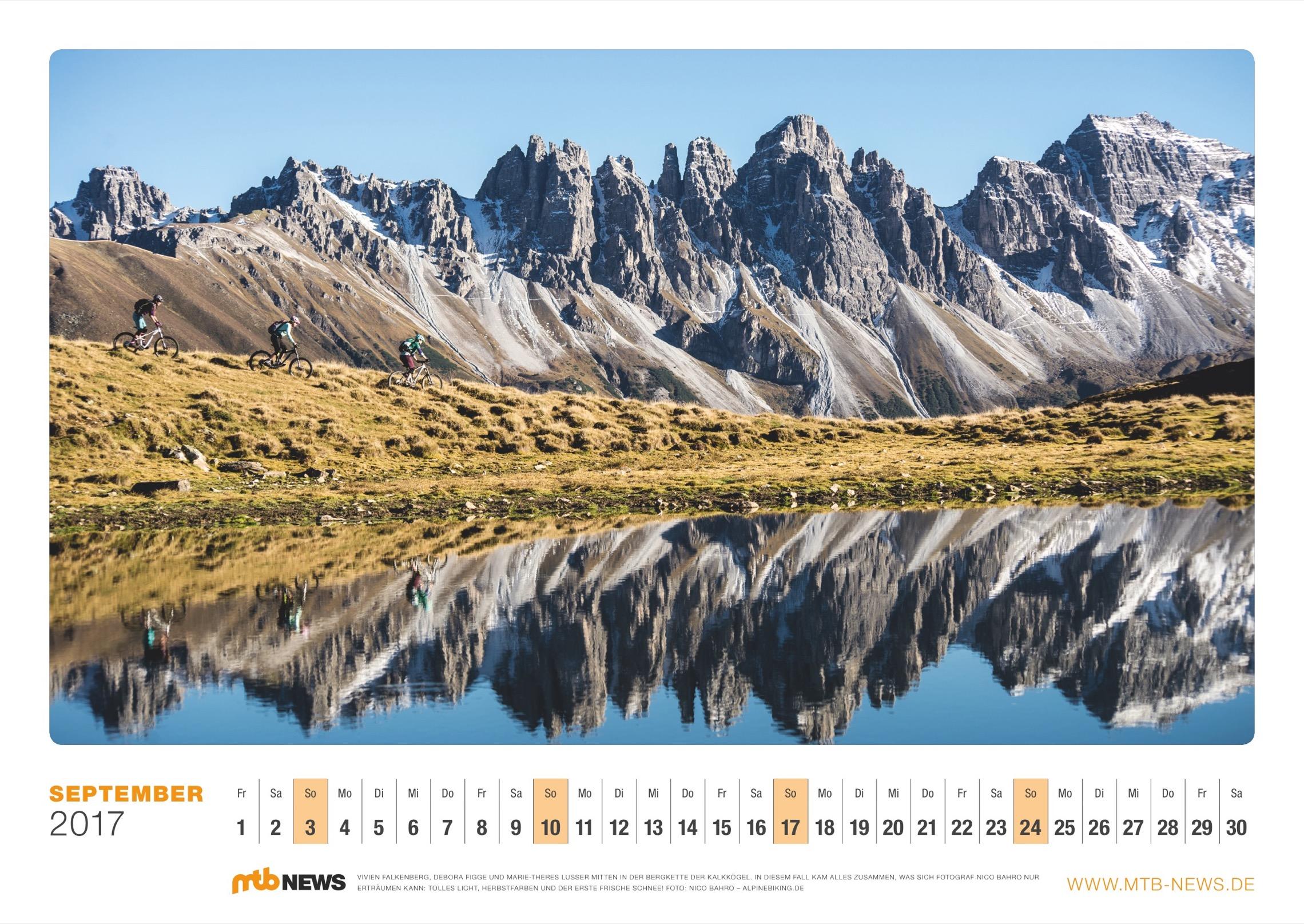 MTB Wandkalender 2017