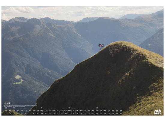 mtb wandkalender 2019 - The Line
