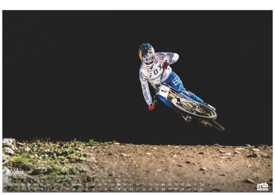 mtb wandkalender 2019 mountainbike - Loic Bruni in Lenzerheide